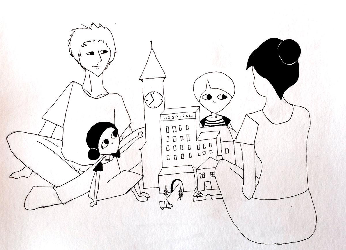 Illustration til projekt: Brobygning for sårbare børnefamilier - en 360 grader indsats