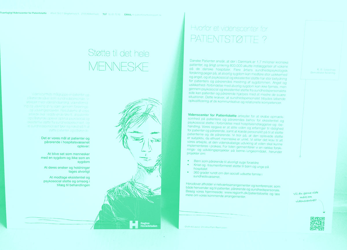 Flyer for Videnscenter for Patientstøtte