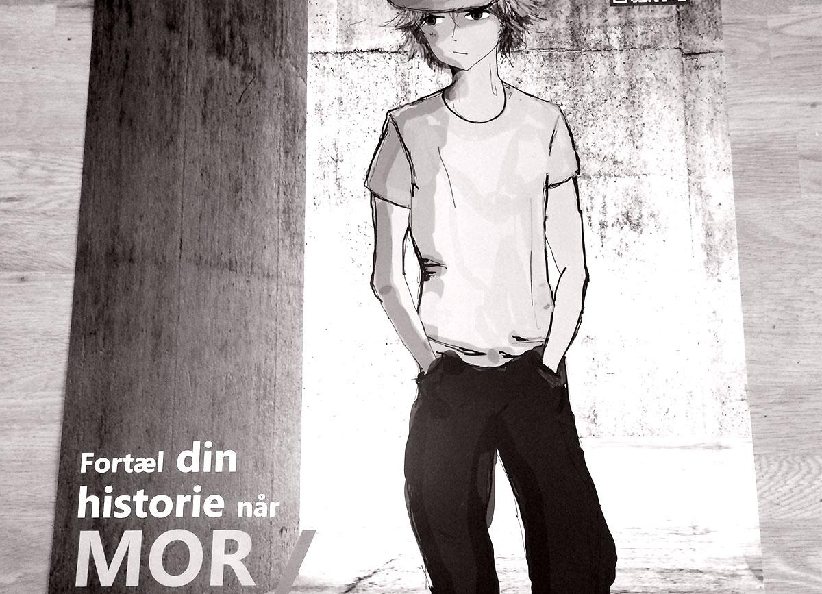 Plakat om hjemmesiden: nårmorellerfarbliversyg.dk